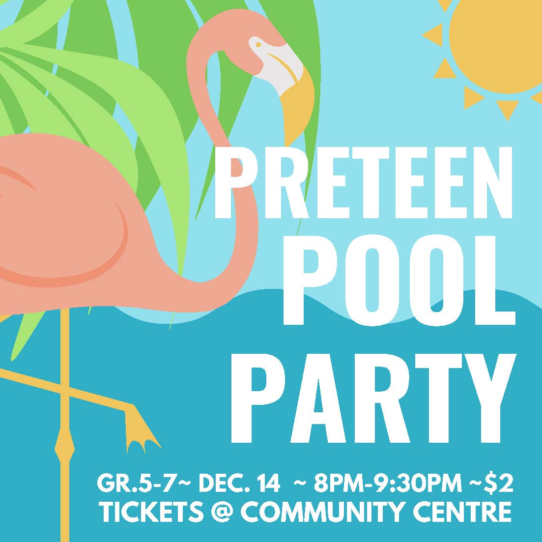 Preteen pool party  sm poster